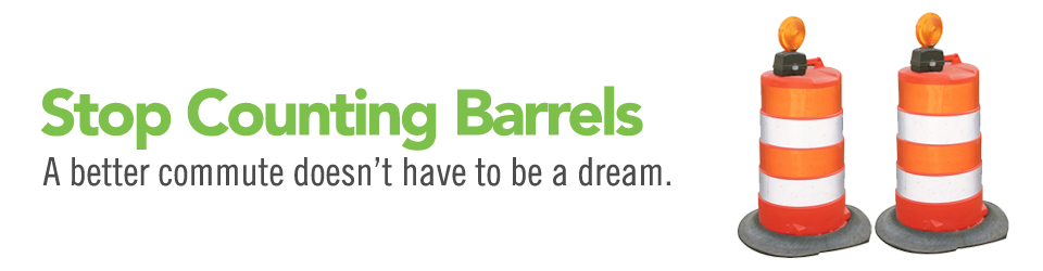Stop Counting Barrels - A better commute doesn't have to be a dream.